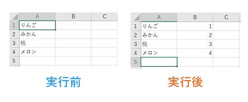 Do ~ Loop文実行前後の比較